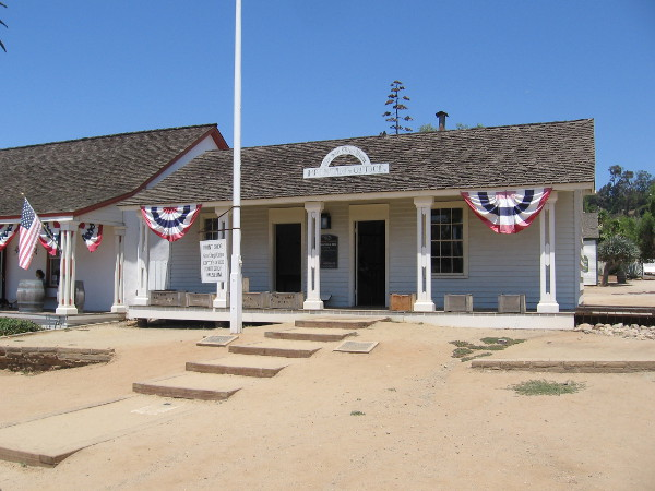The San Diego Union Building in Old Town San Diego State Historic Park contains a print shop and editor's office.