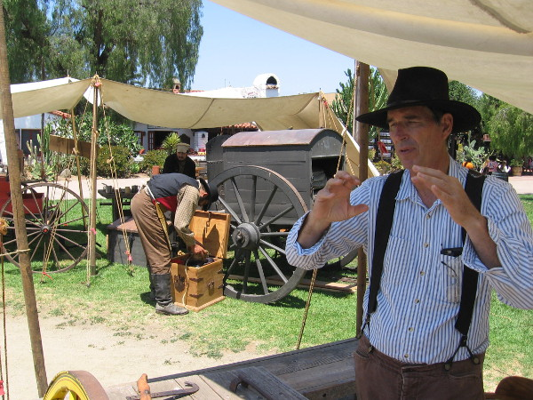 A wheelwright explains his craft. Wagon wheels were difficult to create, but a necessity of life in the 1800's.