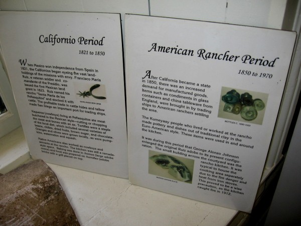 The Californio Period, 1821 to 1850, included vaqueros (cowboys) living at Peñasquitos. The American Rancher Period, 1850-1970, began after California became a state.