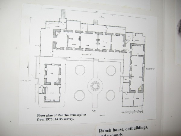 Floor plan of Rancho Peñasquitos from 1975 HABS survey.