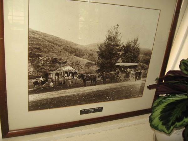 Photo of the San Diego-Escondido Stage Line circa 1906. In the mid-1800s Peñasquitos was a way station on the wagon road between San Diego and Warner's Ranch.