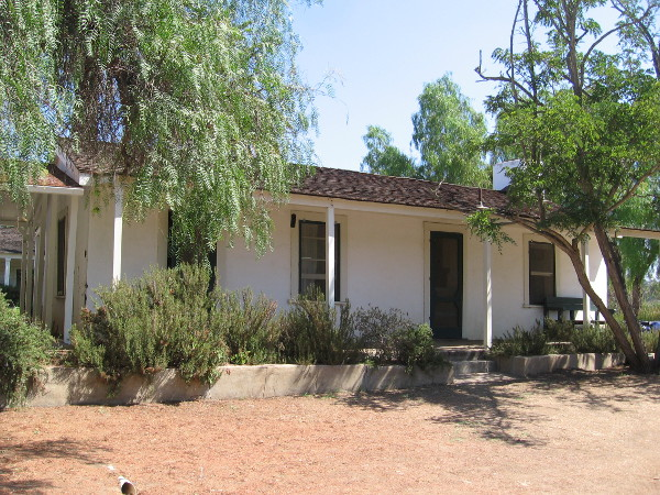 The southeast corner of the adobe ranch house.