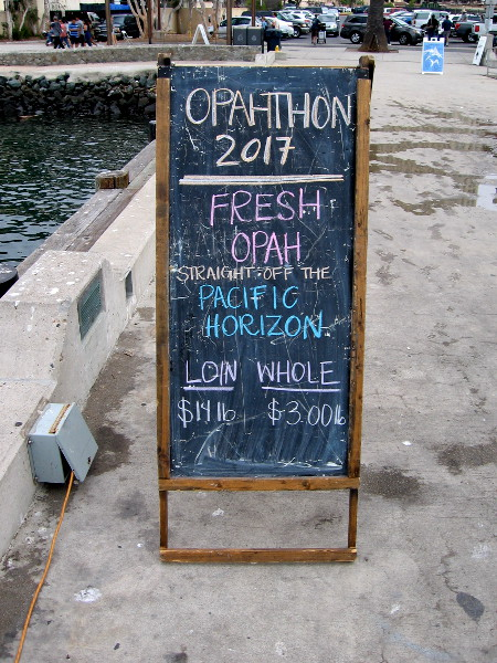 Opahthon 2017 was held this morning on San Diego's Embarcadero at the Tuna Harbor Dockside Market!