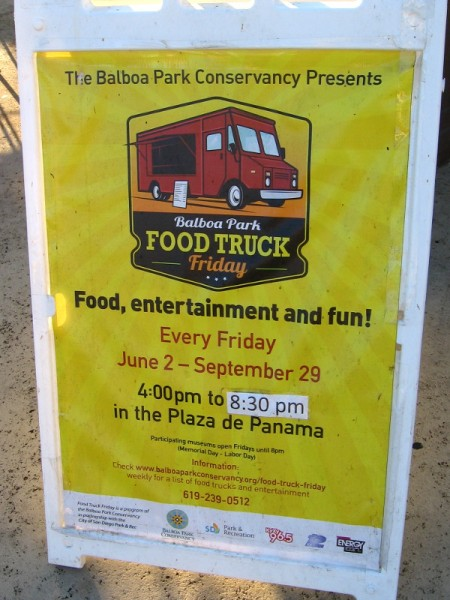 Balboa Park Food Truck Friday promises yummy eats and fun through September in the Plaza de Panama.