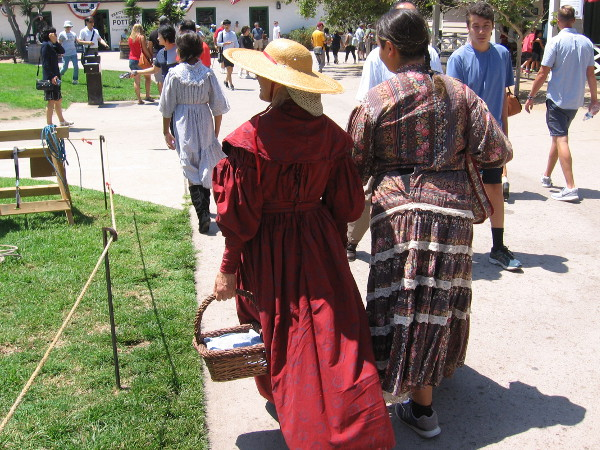 Ladies in period dresses at the Days of the Vaqueros event in Old Town San Diego.