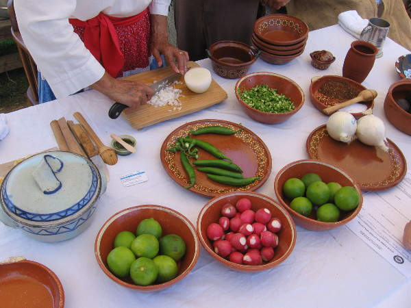 Pozole is a traditional Mexican soup or stew, made from hominy, meat and various vegetable seasonings.