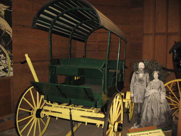 This delivery wagon was brought to San Diego by Frank Kimball in 1868. It was used to show passengers land that he had for sale in National City.