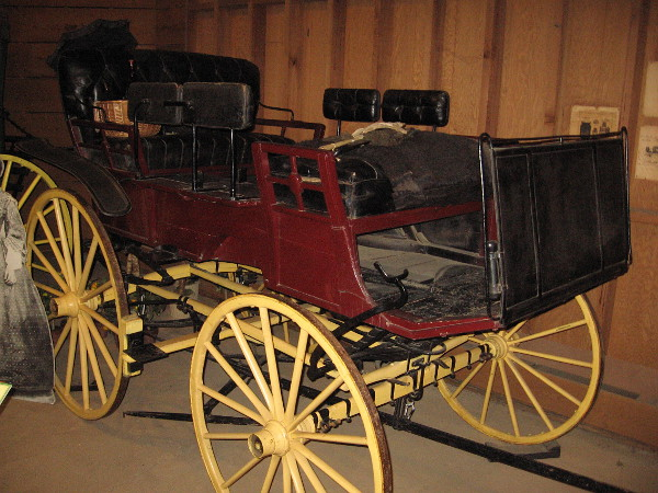 This old Park Wagon was used by rancher Walter Vail. He owned land in Arizona, Santa Rosa island off the coast of California, and Warner's Ranch northeast of San Diego.