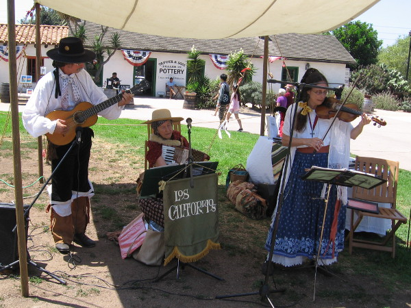 A group called Los Californios played authentic early California music--tunes that were preserved over a century ago on wax cylinder sound recordings made by Charles Lummis.