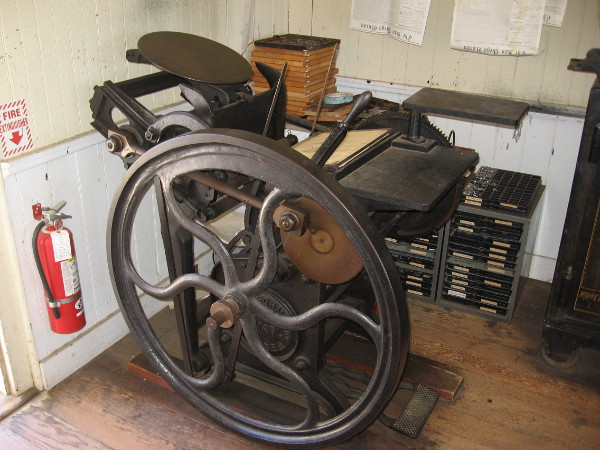 This jobber printing press would have been used for small jobs such as stationery and handbills.
