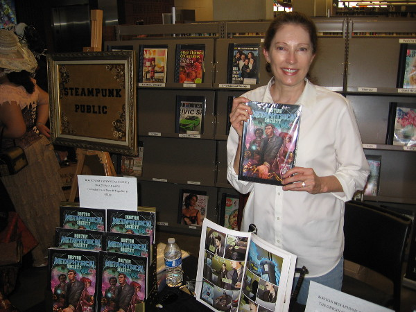 Madeleine Holly-Rosing is author of comic book series Boston Metaphysical Society. Kind of like a steampunk The X-Files I was told. Sounds cool!