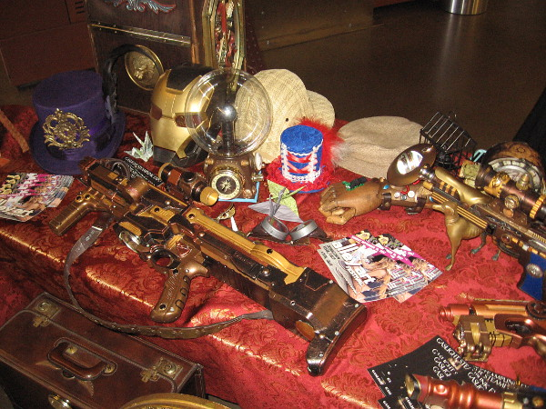 And look at all the cool contraptions created by Steampunk Public! Sheer fun and human creativity!