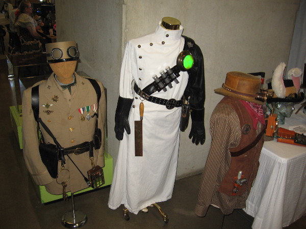 Imaginative costumes exhibited during Steampunk Day by the San Diego Costume Guild. They create costumes from many eras.
