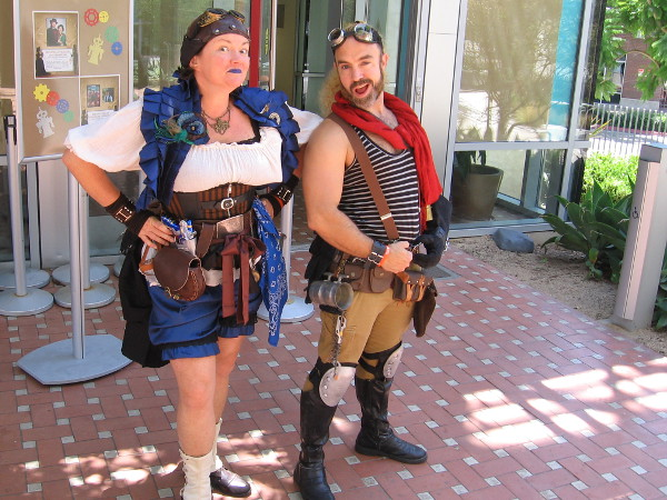 More awesome steampunk cosplay near the Central Library's auditorium.