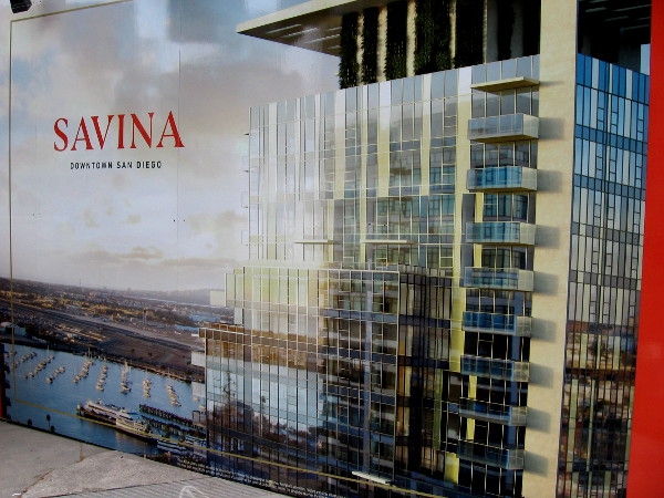 Savina is a 36-story high-rise building containing luxury condos, coming to downtown San Diego.