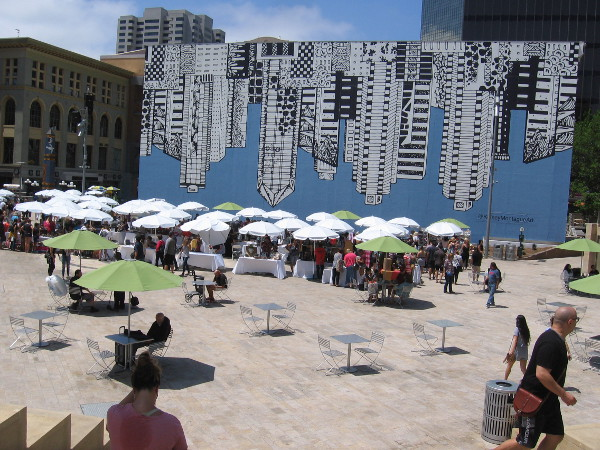 The SoCal Etsy Guild Market took place today in Horton Plaza Park.