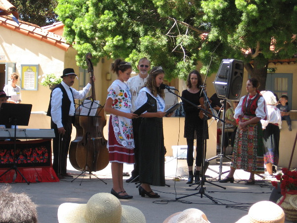 The Sunday afternoon lawn program today at the International Cottages was put on by the House of Hungary.