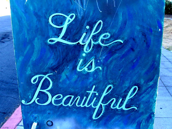 A simple phrase. Life is Beautiful.