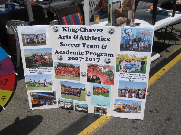 Poster shows student achievers from the local King-Chavez Primary Academy sports and athletics programs!