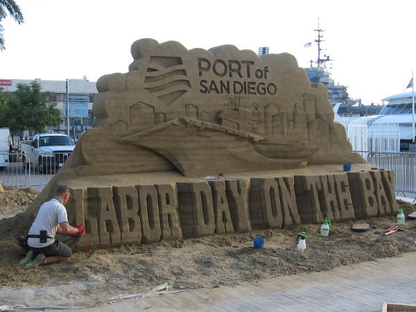 The Port of San Diego is presenting Labor Day on the Bay! I love the central sculpture, complete with the USS Midway!