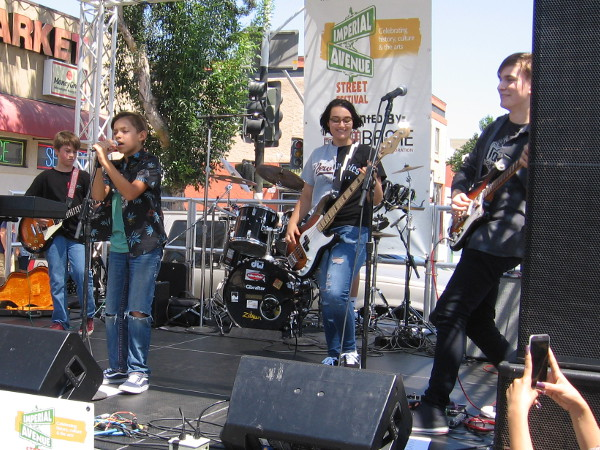At the East Stage a San Diego youth band called the Main Stage Maniacs rocked the house!