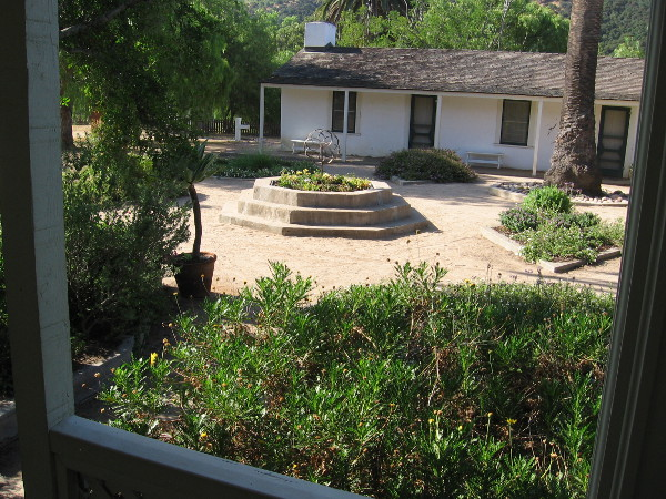 One last photo of the courtyard, a focal point of the ranch house, which has seen many lives, much history.