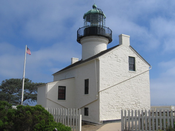 The historic Old Point Loma Lighthouse is a major attraction at Cabrillo National Monument in San Diego.