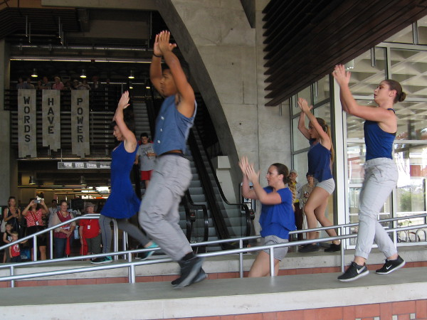 This year, Trolley Dances includes several performances inside the San Diego Central Library!