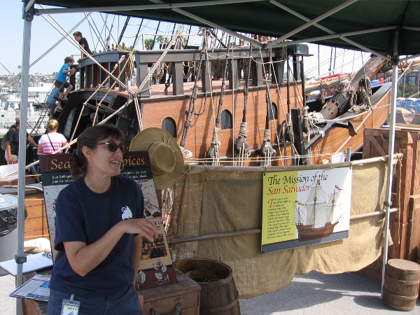 A museum employee talks about how the Spanish galleon replica was built at Spanish Landing. You might recall I blogged about its construction.
