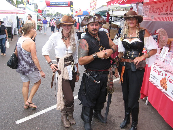 Some pirates pose for a fun photo at the 2017 Festival of Sail.