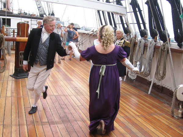 English country dances are demonstrated with grace and aplomb by the Maritime Museum dancers!