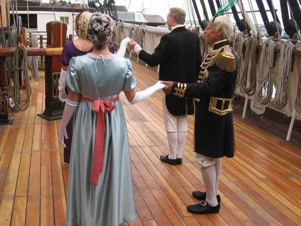 Dignified dancing on the beautiful new main deck of the Star of India.