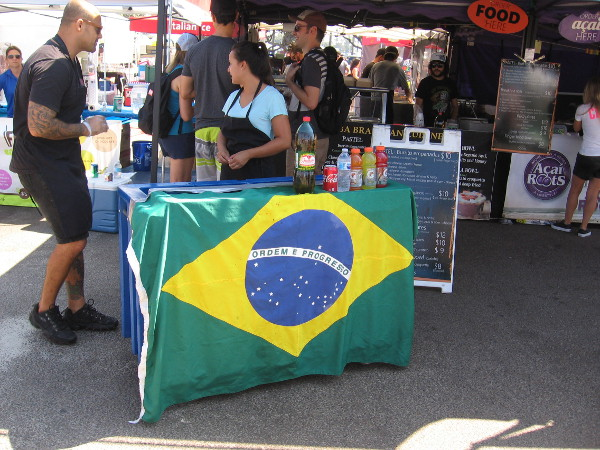 Brazilian culture was celebrated today, so naturally some vendors were selling crispy pastel.