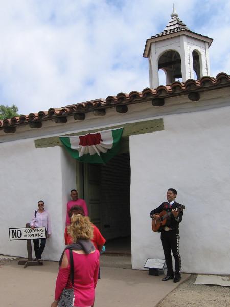 A mariachi welcomes visitors to the historic Casa de Estudillo in Old Town San Diego.