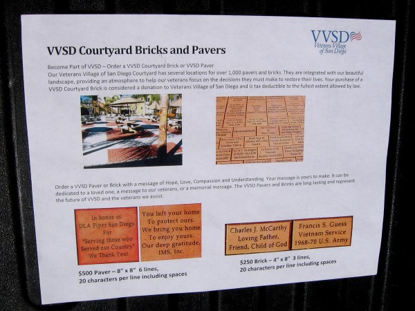 Order a Veterans Village courtyard brick or paver and help Veterans who have been homeless, or at the risk of homelessness. Provide hope, love, compassion and understanding.