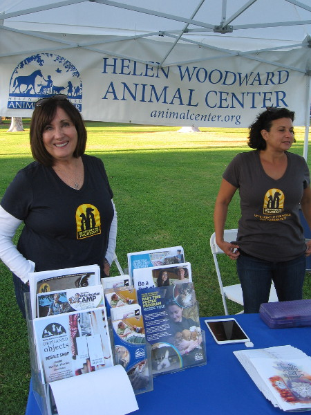 Smiles from the Helen Woodward Animal Center during Remember Me Thursday in Balboa Park.