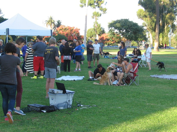People gather to remember animals waiting in shelters to be adopted--and those who lost their lives.