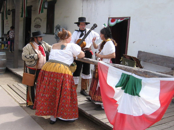 The historically authentic musical group Los Californios wait for their turn on the stage at Fiestas Patrias in Old Town San Diego!