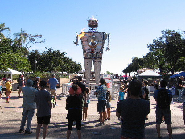 2017 Maker Faire San Diego features lots of very cool robots, including 28 foot tall Robot Resurrection.