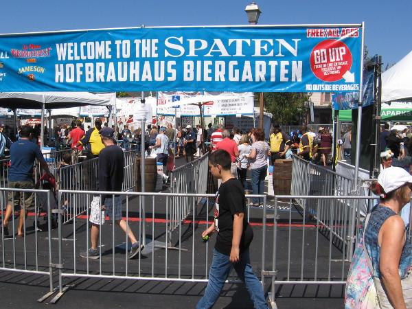 A massive Spaten Hofbrauhaus Biergarten!