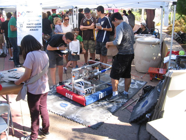 Many schools from around San Diego are demonstrating their robot and other engineering projects during Maker Faire.