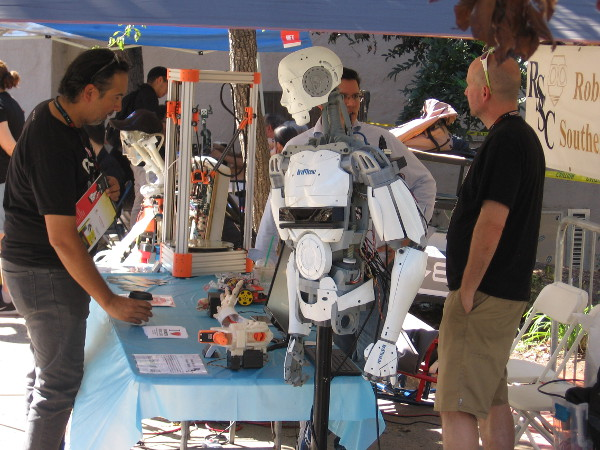The Robotics Society of Southern California has a sophisticated humanoid robot that moves realistically.