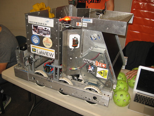 This competitive robot corrals balls and then launches them.