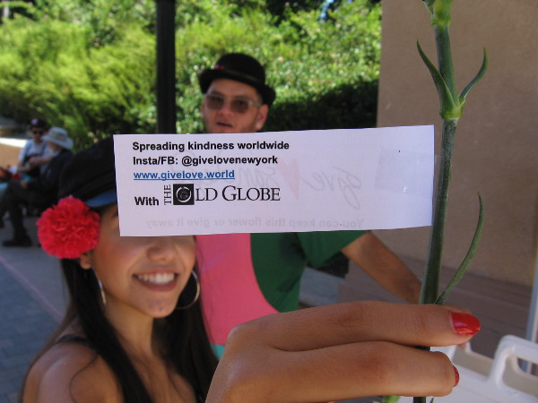 With the help of the Old Globe Theatre, spreading kindness worldwide @givelovenewyork