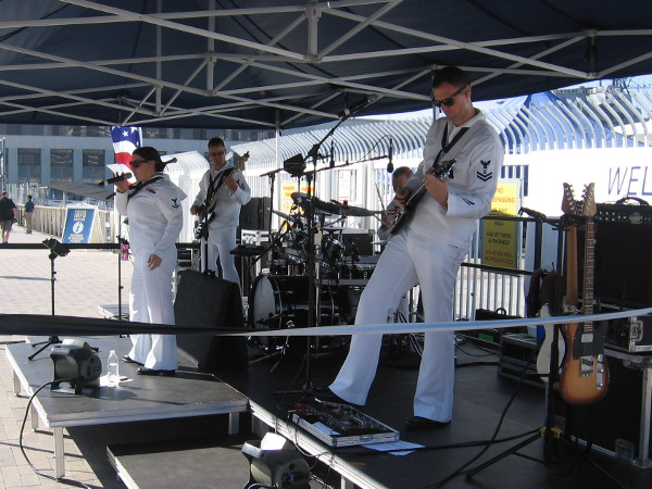 Members of Navy Band Southwest entertain visitors to the Broadway Pier during Fleet Week San Diego 2017.