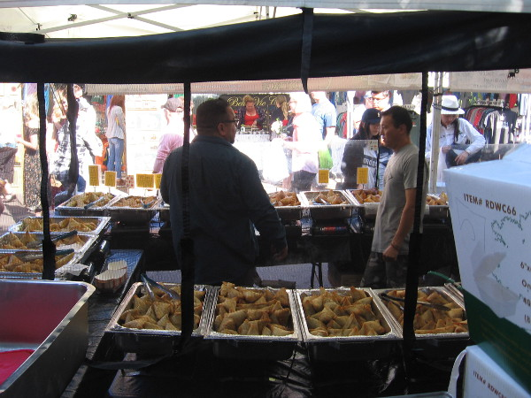 Lots of yummy food is found at the Little Italy Mercato Farmers' Market.