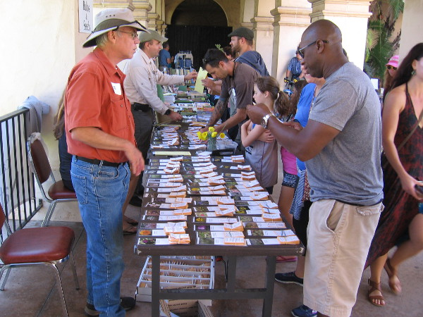 Many packets of seeds were also for sale.