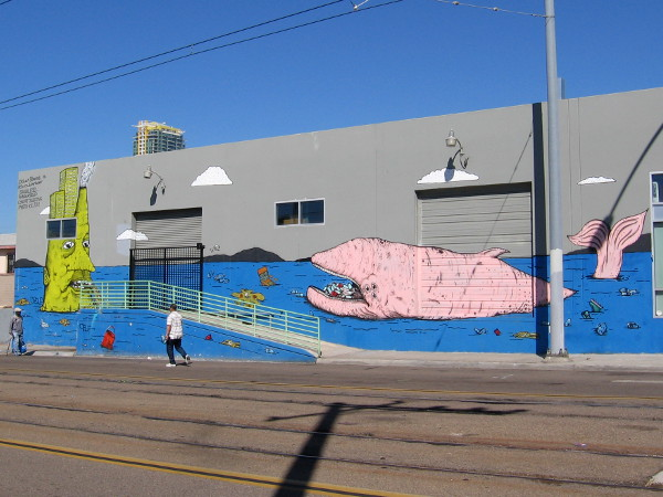 Cool Artwork Painted By Dolan Stearns For The PangeaSeed Sea Walls: Murals  For Oceans Project