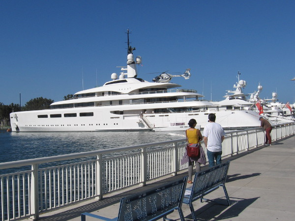 In October 2017 I saw Vava II, a 97-meter superyacht docked behind the San Diego Convention Center!