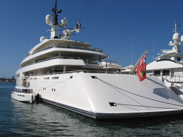 The Vava II, built by billionaire Swiss pharmaceutical tycoon Ernesto Bertarelli, is equipped with its own helicopter.
